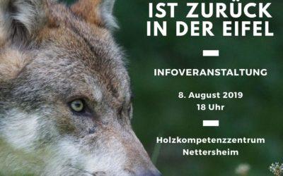 Informationsveranstaltung: Der Wolf zurück in der Eifel